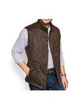 JOHNSTON & MURPHY Brown Antiqued Vest