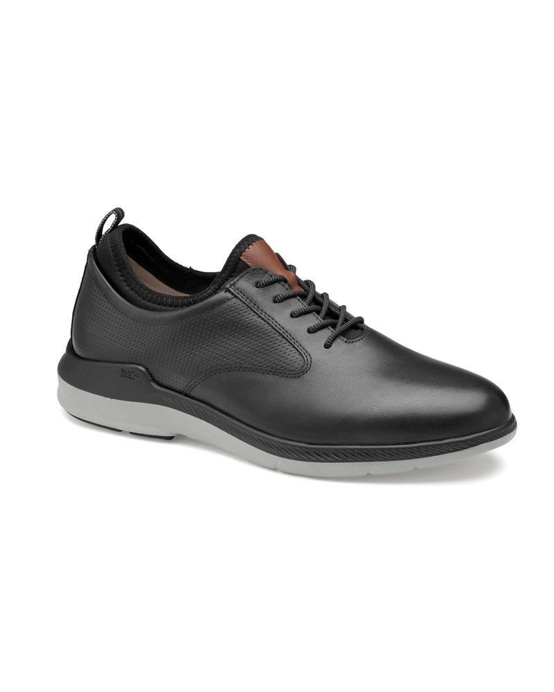 JOHNSTON & MURPHY Black Lancer Plain Toe XC4 Shoe