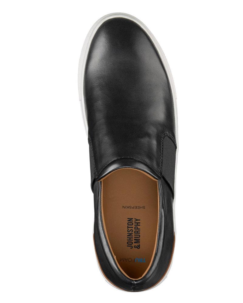 JOHNSTON & MURPHY Black Banks Slip On Shoe