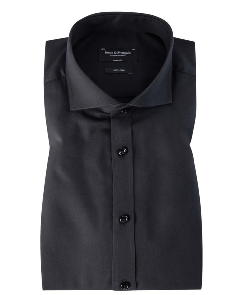 BRUUN & STENGADE Modern Fit Black Shirt