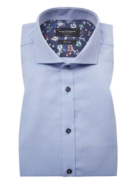 BRUUN & STENGADE Modern Fit Light Blue Shirt
