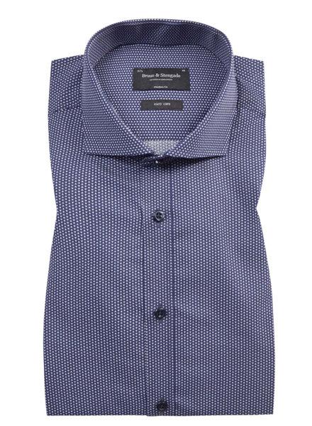 BRUUN & STENGADE Modern Fit Medium Blue Shirt