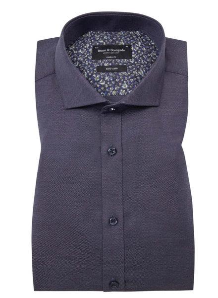 BRUUN & STENGADE Modern Fit Navy Shirt