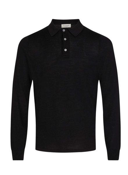 BRUUN & STENGADE Solid Merino Wool Polo