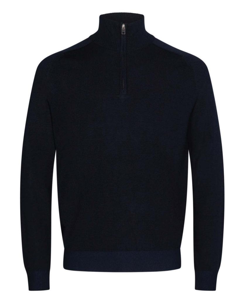 BRUUN & STENGADE Solid Wool Blend 1/4 Zip