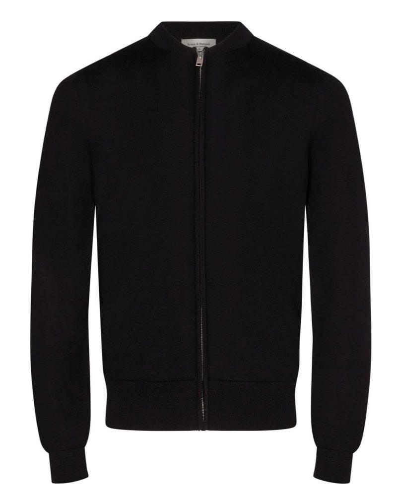 BRUUN & STENGADE Solid Wool Full Zip