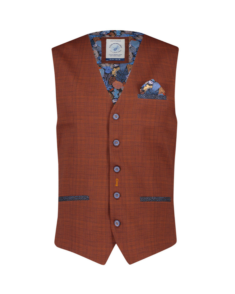 A FISH NAMED FRED Modern Fit Rust Vest