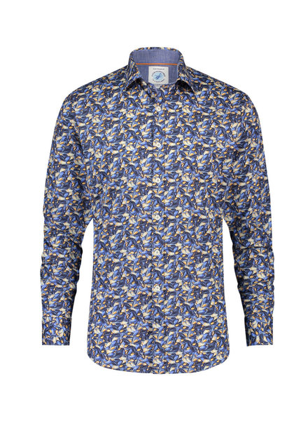 A FISH NAMED FRED Modern Fit Blue Mussel Shirt