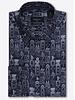 BUGATCHI UOMO Modern Fit Grey Geometric Printed Shirt