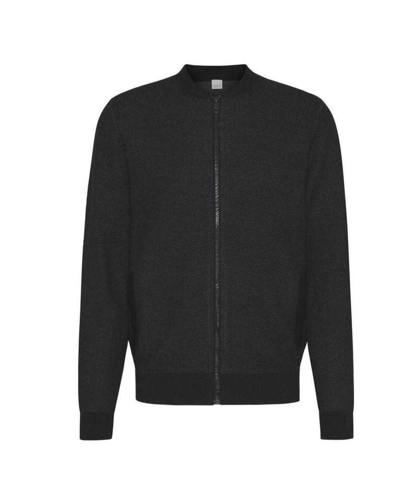 BUGATTI Black Full Zip Sweater