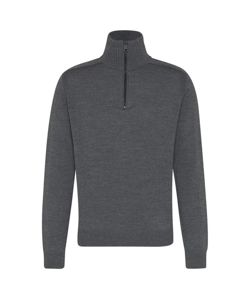BUGATTI Plain 1/4 Zip Sweater