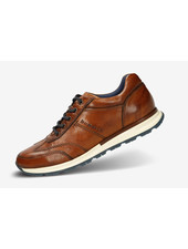 BUGATTI Cognac Leather Sneaker