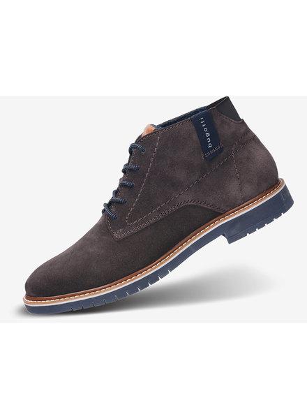 BUGATTI Suede Dark Grey Ankle Boot