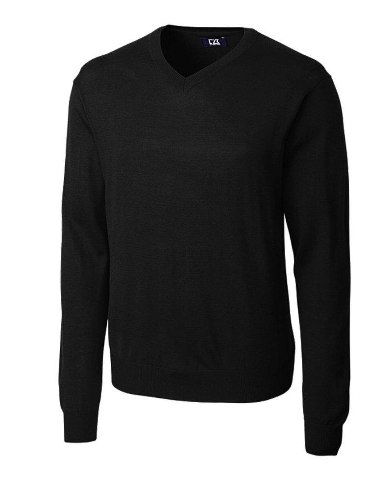 CUTTER & BUCK Black Douglas V-Neck Sweater