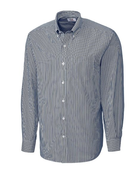 CUTTER & BUCK Classic Fit Blue Begal Stripe Shirt
