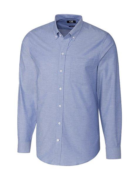 CUTTER & BUCK Modern Fit Blue Stretch Oxford Shirt