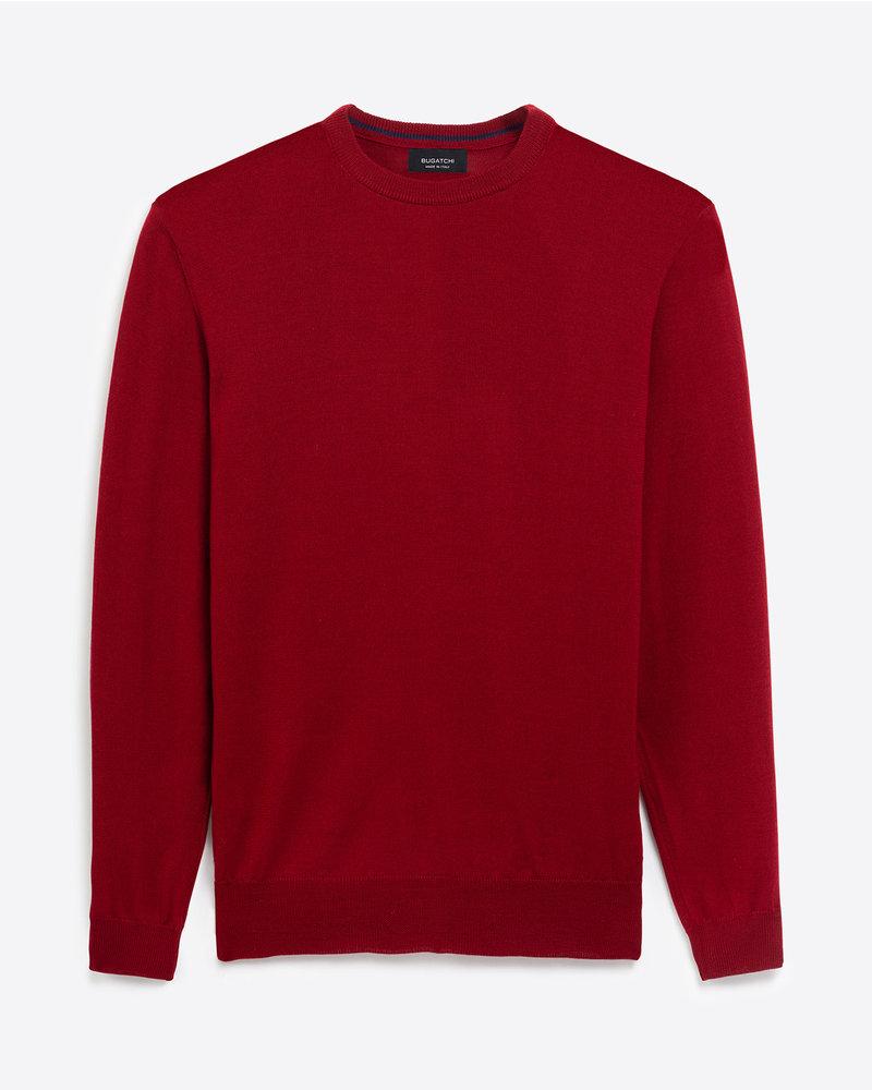 BUGATCHI UOMO Red Crew Neck Sweater