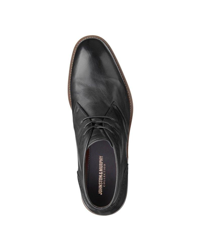 JOHNSTON & MURPHY Black Donahue Chukka Boot