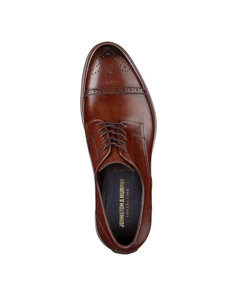 JOHNSTON & MURPHY Brown Ashford Cap Toe Shoe