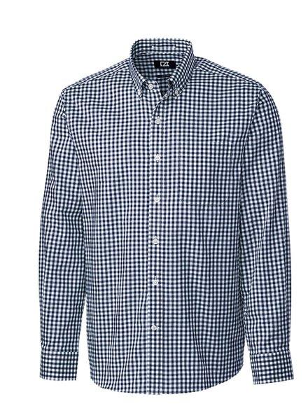 CUTTER & BUCK Navy League Gingham Shirt