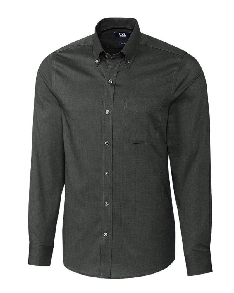 CUTTER & BUCK Modern Fit Black Nail Head Shirt