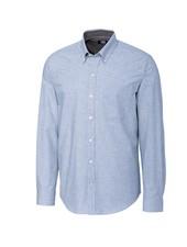 CUTTER & BUCK Classic Fit Blue Heathered Shirt