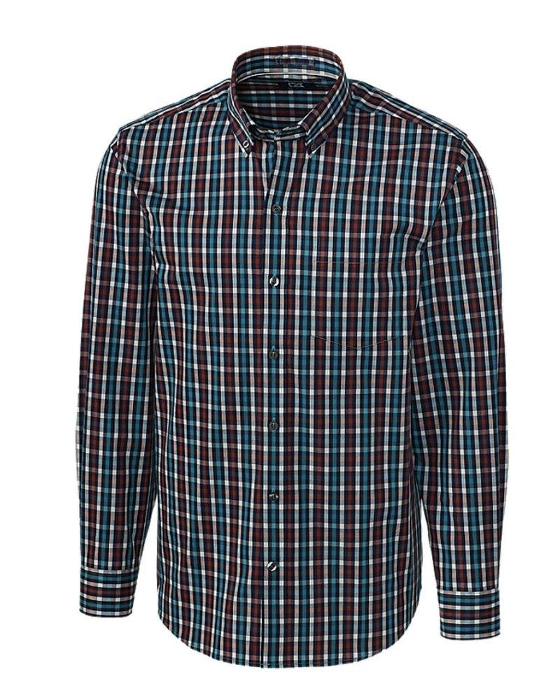 CUTTER & BUCK Classic Fit Aqua Albert Check Shirt
