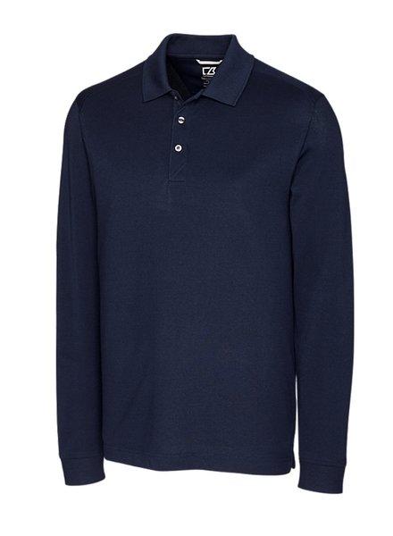 CUTTER & BUCK Navy Long Sleeve Polo
