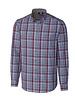 CUTTER & BUCK Classic Fit Red Blue Dean Plaid Shirt