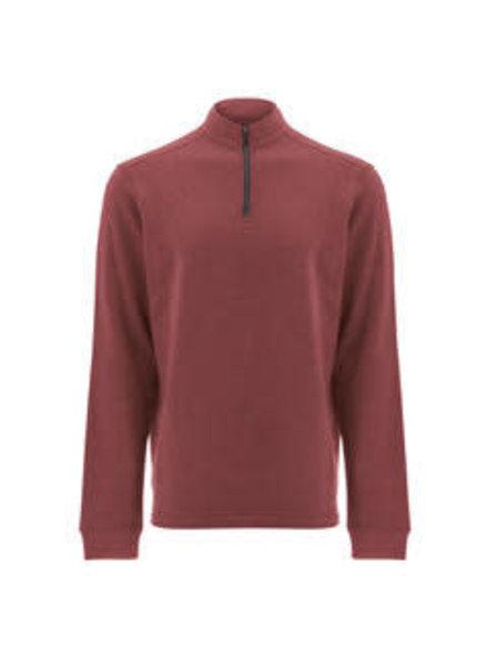 OLD RANCH Red 1/4 Zip Sweatshirt