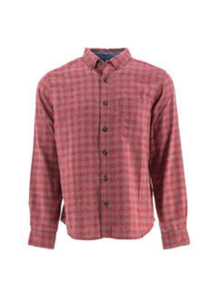 OLD RANCH Classic Fit Red Check Flannel Shirt