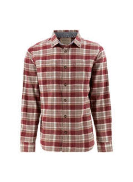 OLD RANCH Classic Fit Burgundy Plaid Shirt