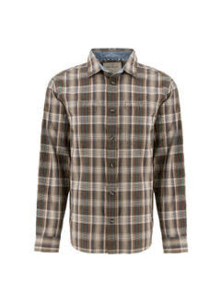 OLD RANCH Classic Fit Brown Plaid Shirt