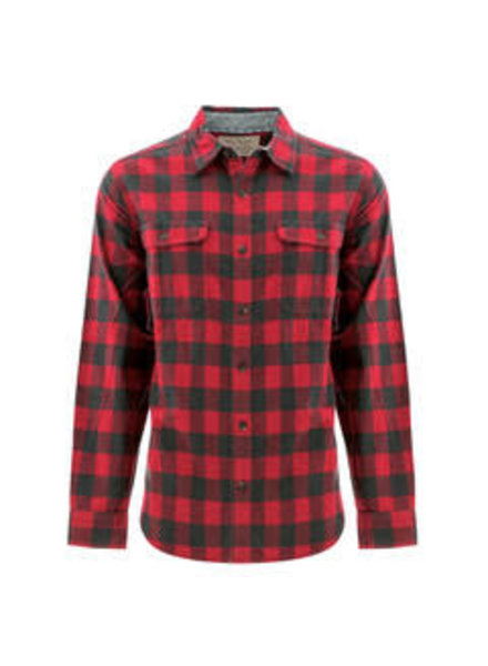 OLD RANCH Classic Fit Red Blk Plaid Shirt
