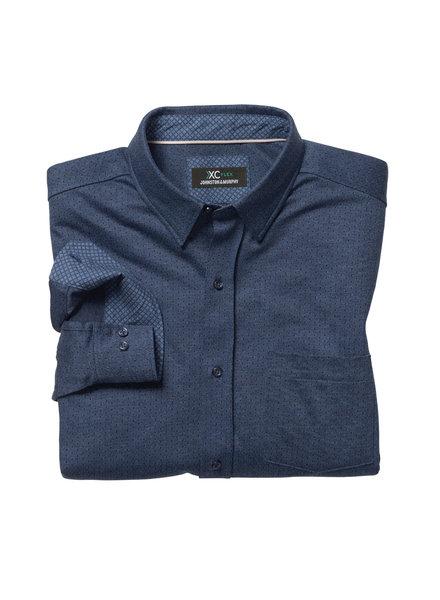 JOHNSTON & MURPHY Classic Fit XC4 Flex Navy Shirt