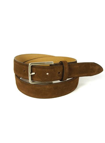 Brown Italian Suede Belt