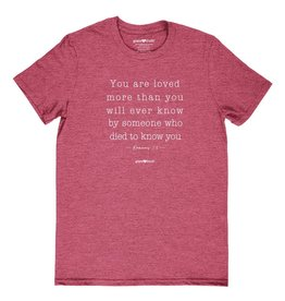 grace & truth grace & truth You Are Loved Romans 5:8 Christian T-Shirt