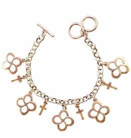 Faith Gear Faith Gear® - Swirl Cross Gold Women's Bracelet