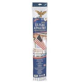 Annin Traditional American Flag Set - Republic Polycotton