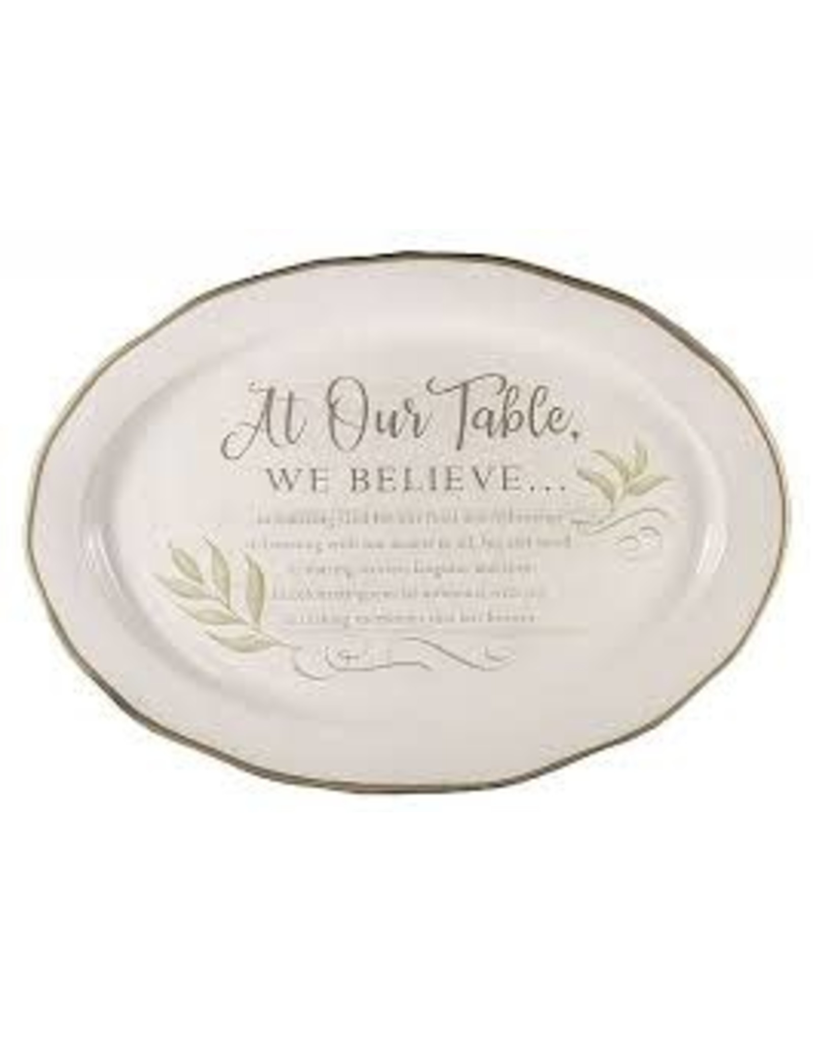 """Abbey + CA Gift At Our Table Platter 14"""" x 10"""""""
