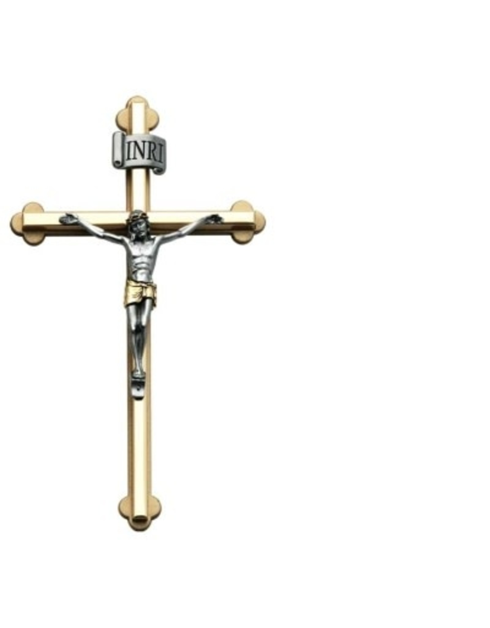 8 Inch Crucifix with Christ Cross 2-Tone Gift Boxed