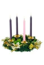 "Roman 14""D Ivory Poinsettia Advent Wreath"