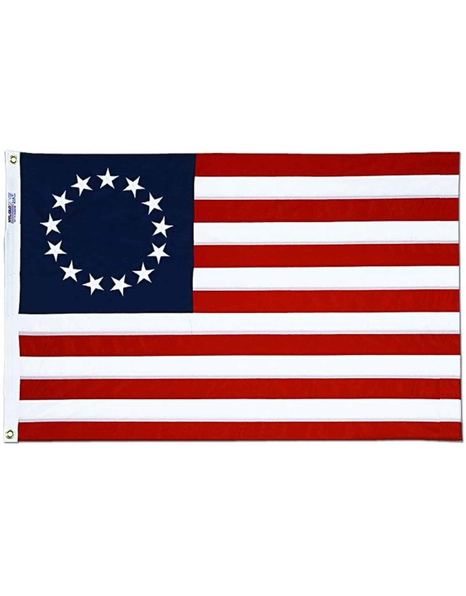 Annin Betsy Ross American Flag - 3' x 5' Embroidered Bulldog Cotton