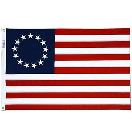 Annin Betsy Ross American Flag - 4' x 6' Embroidered Bulldog Cotton