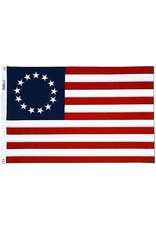 Annin Betsy Ross American Flag - 2' x 3' Embroidered Bulldog Cotton