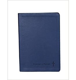 Journaling Through the Gospels and Psalms, Catholic Edition, NABRE: Navy Colored Cover (Leathersoft Binding)