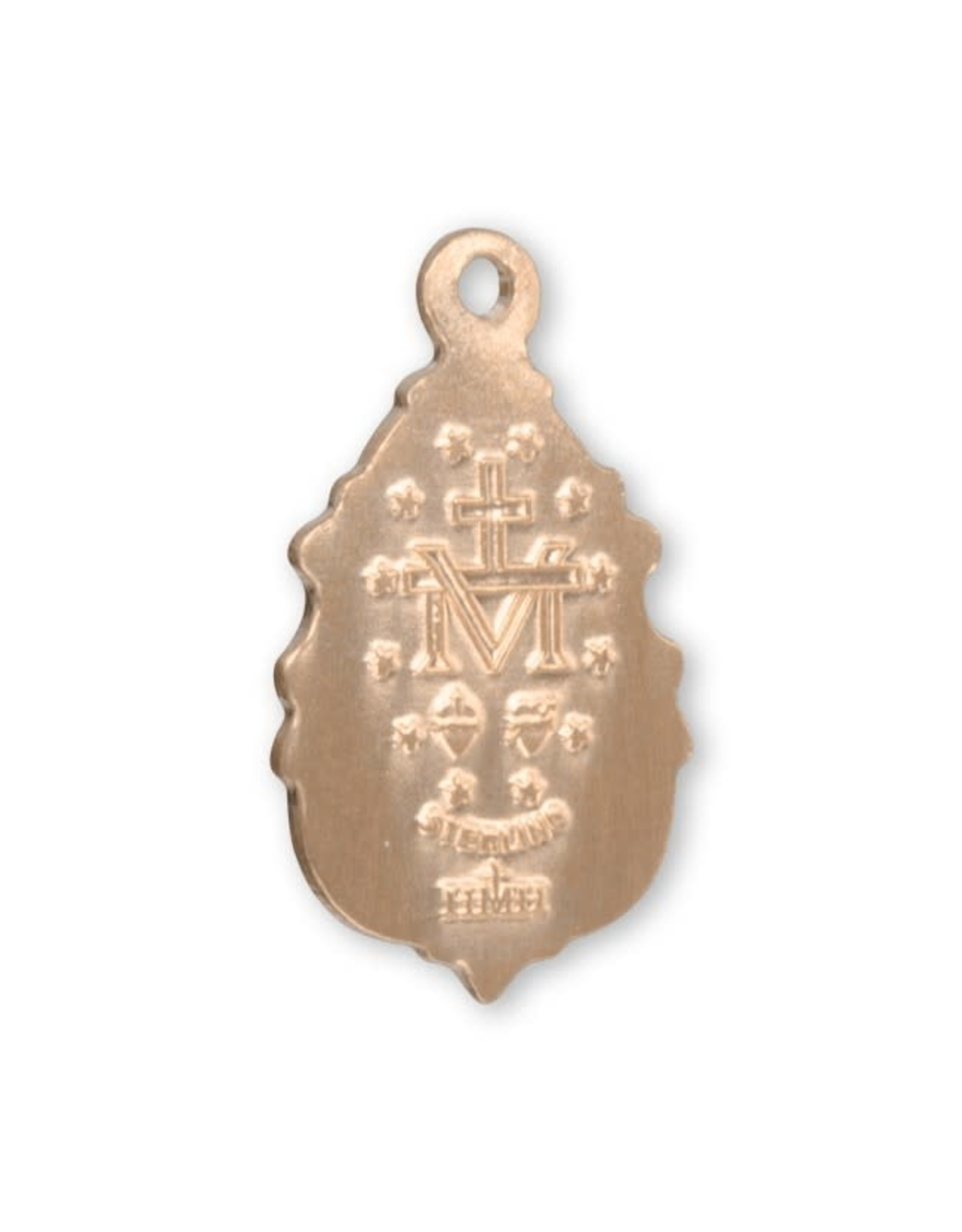 """HMH 16 Karat Gold over Sterling Silver Small Fancy Miraculous Medal with 18"""" Chain, Boxed"""