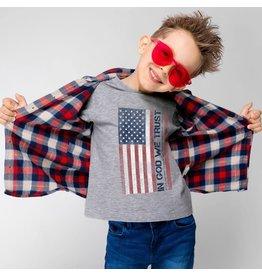 Kerusso Kid's In God We Trust Flag Kid's T-Shirt