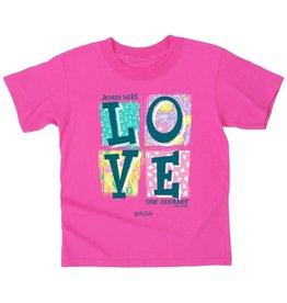 Kerusso Kid's Love Blocks Girl's T-Shirt