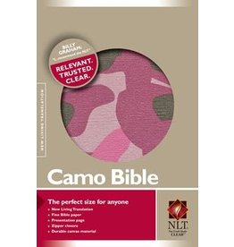 Pink Camo Bible NLT (Canvas, Pink)